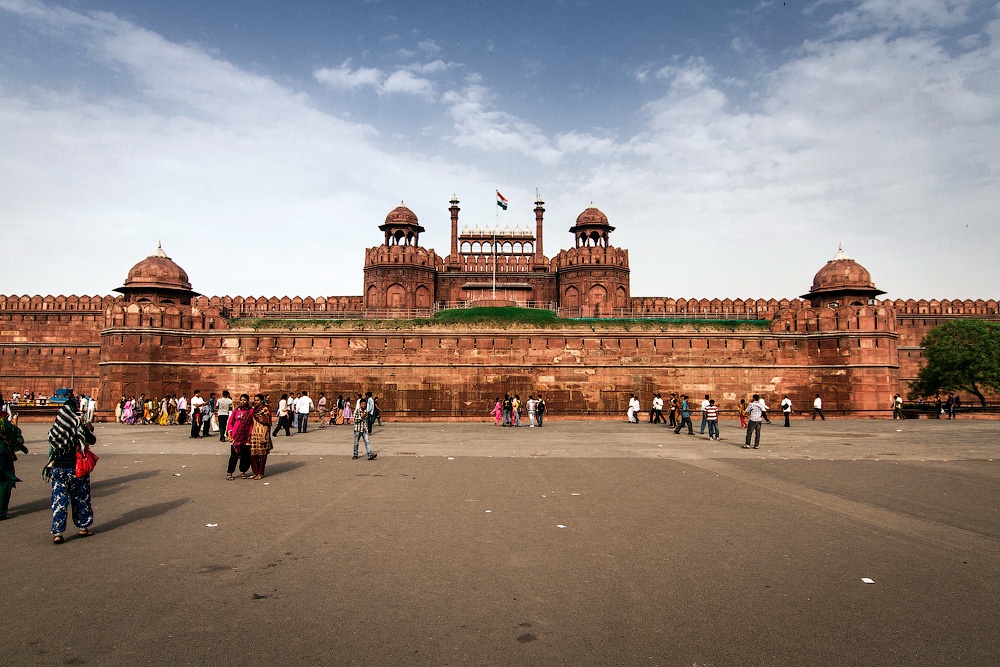 Красный Форт в Дели, последняя цитадель империи Великих Моголов